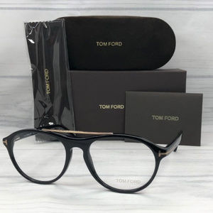 a2a1c2ceab93 Tom Ford Accessories - Tom Ford TF5411 O 001 Shiny Black   Demo Lens 53mm
